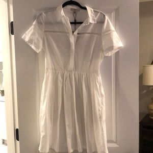 Burberry White Button Dress
